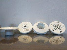 kit de dispositivos ABS para piscina de concreto Aquasol contem  1 aspiração + 2 retorno + 2 dreno de fundo