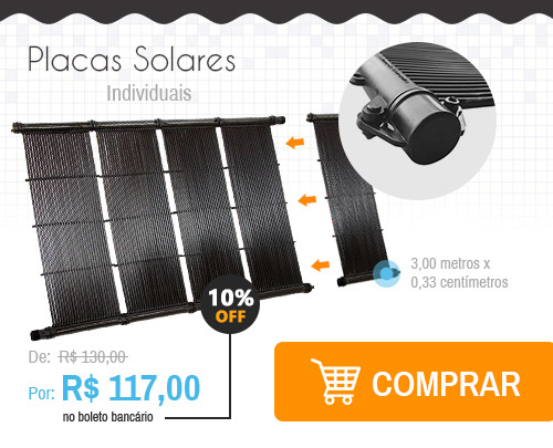 Placa solar individual 3,00 metros x 0,33 centímetros