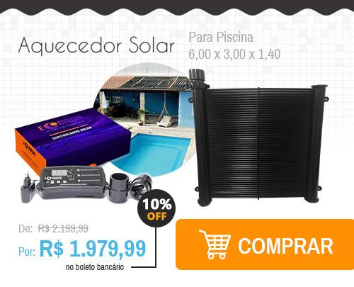 Aquecedor Solar para Piscina 6,00 x 3,00 x 1,40