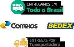 Entregamos em Todo o Brasil - Correios - Sedex - ENtregas por Transportadora