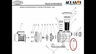 Plug de drenagem do motor de piscina Jacuzzi modelo F