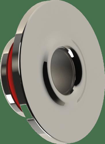 Dispositivo de Retorno para Piscina de Concreto Encaixa Dentro da Tubulação de 50mm Soldável em Inox 316 Redondo