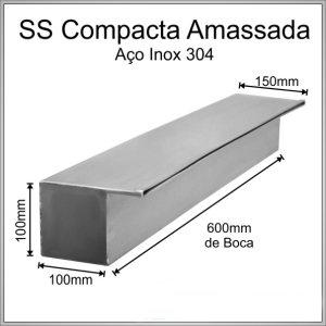 Cascata de embutir 60 centímetros de lâmina amassada inox 304