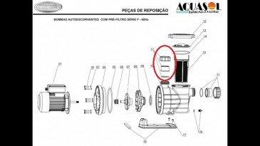 Conjunto conexão do motor de piscina Jacuzzi modelo F