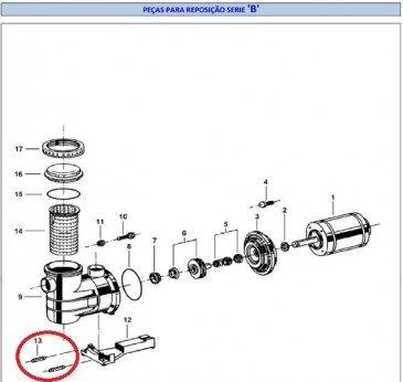 Pino para Fixação da Base do Motor Jacuzzi B