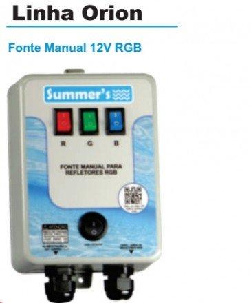 Quadro de comando para leds RGB de piscina manual .