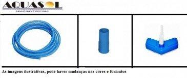 Kit Equipamento Piscina Plástica com Cabo Alumínio 2m