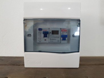 Quadro elétrico montado para piscina de fibra / concreto ou vinil com um disjuntor para motor + timer