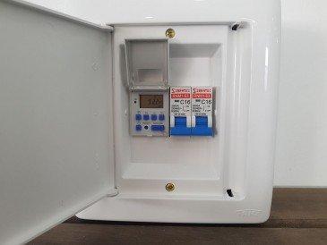 Quadro Elétrico para Piscinas com 2 Disjuntores+timer