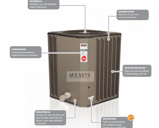Trocador de calor Rheem para piscinas até 50 mil litros