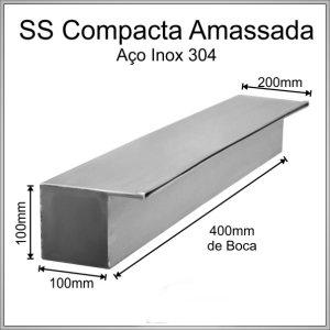 Cascata de embutir 40 cm de lâmina amassada inox 304