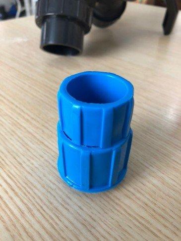 Emenda plastica para cabo de alumínios para a limpeza de piscinas .