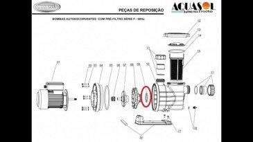 Espaçador do Motor para Piscina Jacuzzi F