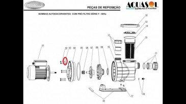 Arruela Lisa para Motor de Piscina Jacuzzi Modelo F