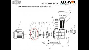 Bracket do Motor Modelo F para Piscinas Jacuzzi