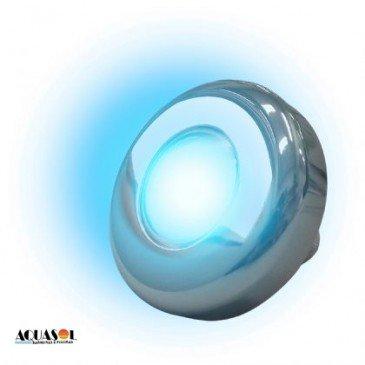 Refletor Azul 9W Tholz em inox para piscina lente em policarbonato e vedação viton