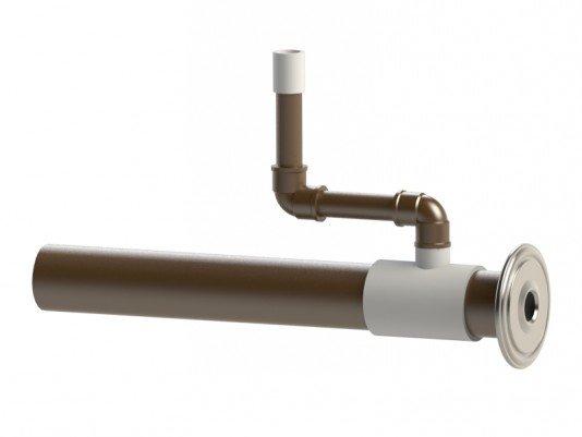 Dispositivo de Hidromassagem em Inox e Tubulação 50mm
