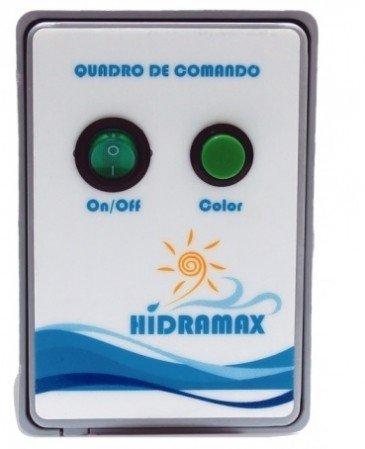 Caixa de comando para acionamento do Led de piscina 150w/ 12,5A Bivolt controle cores e efeitos