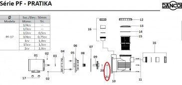 "Parafuso Sextavado 1/4""x5/8"" UNF do Motor Dancor"