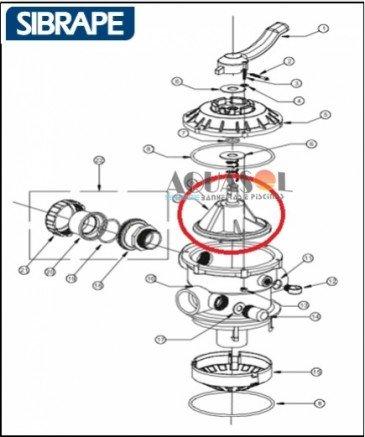 Distribuidor da Válvula Sibrape / Desviador Sibrape