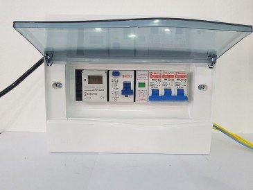 Quadro de Comando para Piscina com Timer Digital + Saída para Motor + Saída de Iluminação +Saída para Motor de Cascata ou Aquecimento