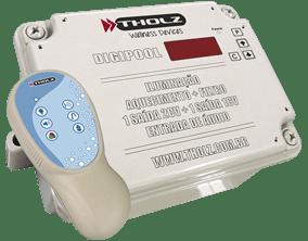Digipool 36w controlador para piscina aciona iluminação + uma saída para motor de até 1cv + uma saída para motor de até 2cv. Modo áudio incluso