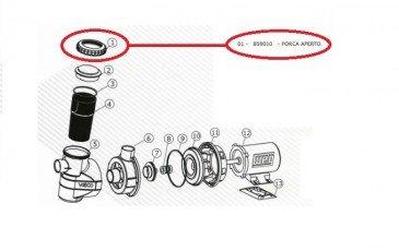 Rosca do Pré-Filtro da Motobomba de Piscina Veico