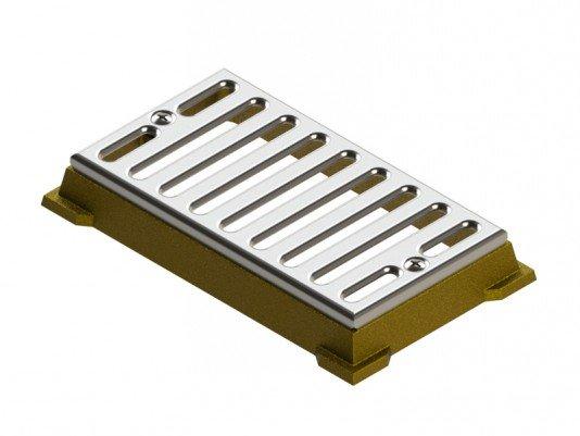 Dispositivo Dreno de Fundo Caixilho 15 x 30 em Inox