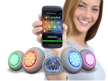 Iluminação para Piscina RGB com Bluetooth e 5 Leds