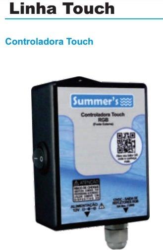 Controlador para led RGB de piscina com controle remoto touch