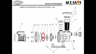 Selo Mecânico Buna N para Motor de Piscina Jacuzzi F