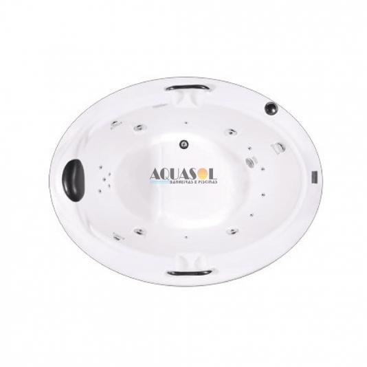 Banheira Oval Magna em Acrílico Slim Plus