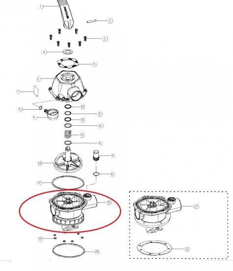 Base do cabeçote do filtro Nautilus F280/f300