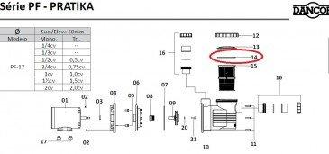 Oring do Pré-Filtro do Motor de Piscina Dancor