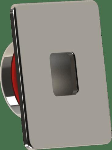 Dispositivo de retorno fixo quadrado encaixa dentro da tubulação de 50mm soldavel produzida em INOX 316