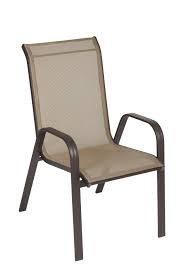 Cadeira em Alumínio Empilhável Summer Tela Marrom