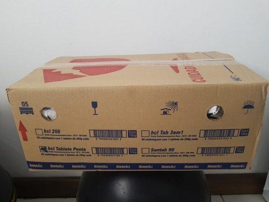 Caixa de cloro em tablete penta 60 unidades