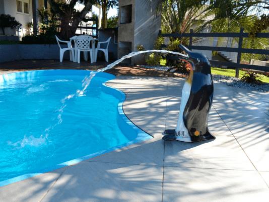 Cascata de Pinguim Fixo