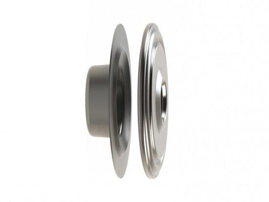 Dispositivo de Retorno Aço Inox 50mm Flange Traseira em Inox Saída do Jato 13mm