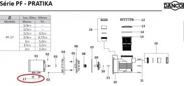 Base do Motor com Engate para Piscinas Dancor PF-17