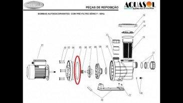 Oring 6.3/4x7.1/4 x 1.4 para Motor de Piscina Jacuzzi F