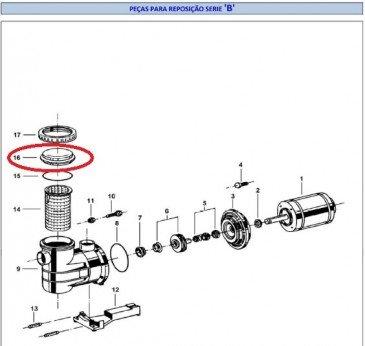 Visor do Pré-Filtro do Motor de Piscina Dancor PF-22