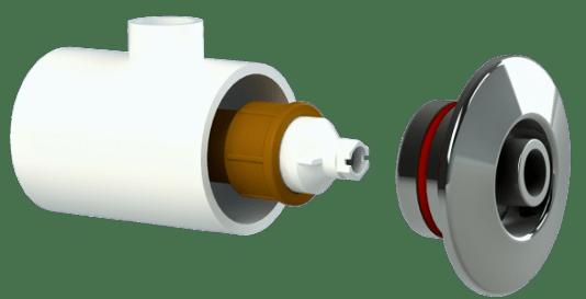Dispositivo de Hidromassagem em Inox, Engate Padrão Ajustável
