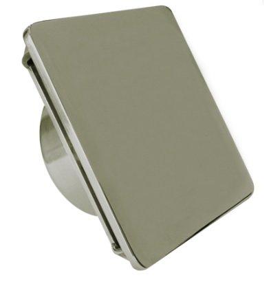 Dispositivo de Retorno Aço Inox Quadrado cego 50mm / 60mm