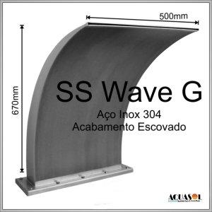 Cascata em Aço Inox 304 com 67 cm de Altura