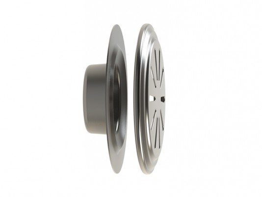 Dispositivo de Nível em Inox para Piscina de Concreto 50mm Flange Traseira em Inox