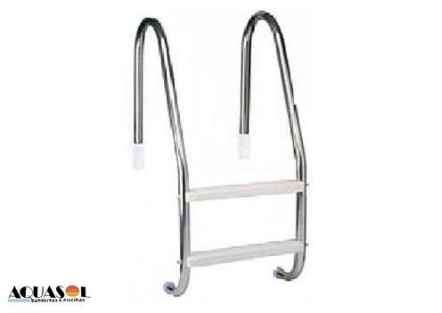 Escada Aço Inox com 2 Degraus ABS Anatômico para Piscinas