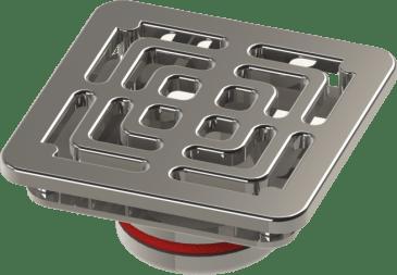 Dispositivo Dreno Lateral Quadrado 50mm em Inox 316