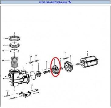 Bracket do Motor para Piscinas Modelo A Jacuzzi