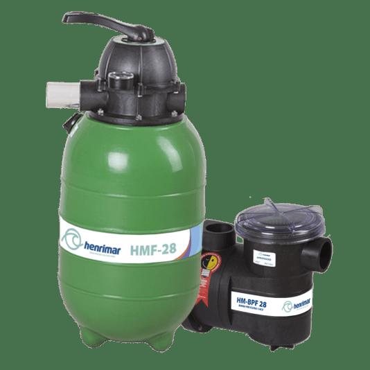 Filtro para Piscinas HM-FB28 Motobomba 1/4 cv Henrimar